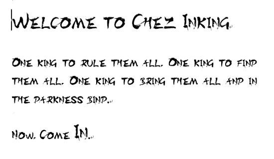 font-inking